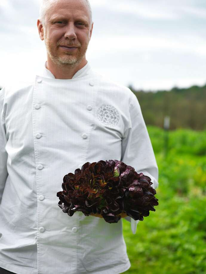 Kyle Connaughton on the farm at SingleThread Farms in Healdsburg. Chef Connaughton is one of the chefs involved with Napa & Sonoma Relief. Photo: John Lee, Special To The Chronicle