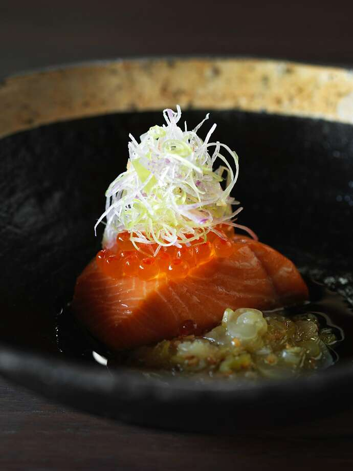 Steelhead trout smoked in a donabe over cherry blossom wood at Single Thread in Healdsburg. Photo: John Lee, Special To The Chronicle