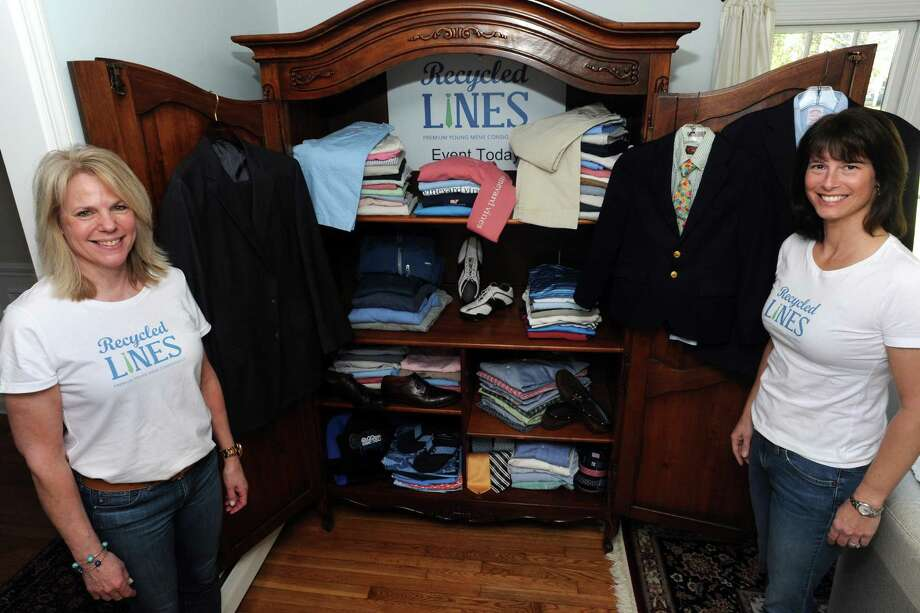 Recycled Lines, LLC, a pop up premium brand young mens consignment shop in Fairfield on March 9. Photo: Ned Gerard / Hearst Connecticut Media / Connecticut Post