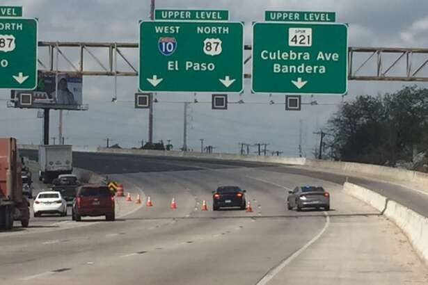 The upper lanes of Interstate 10 were closed after a crash March 21, 2017.