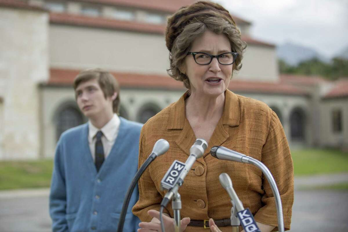 """Melissa Leo as the younger version of fiery atheist Madalyn Murray O'Hair in a scene from the Netflix original film """"The Most Hated Woman in America."""""""