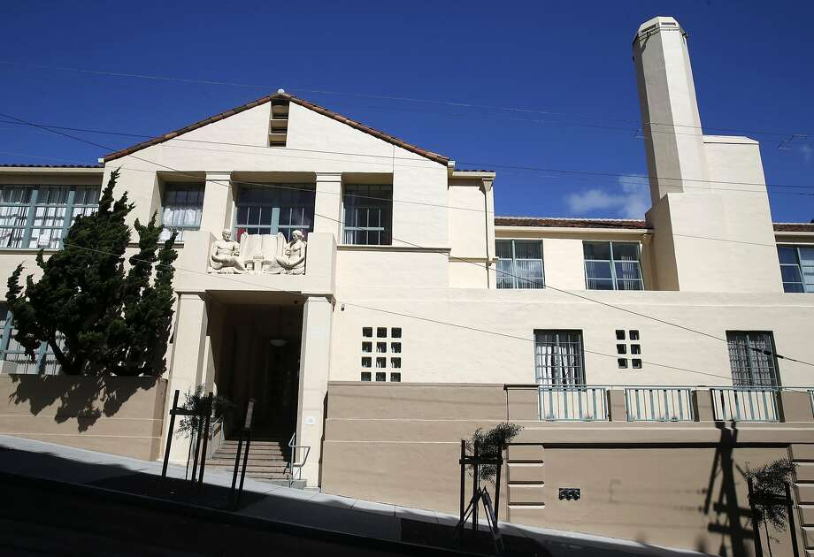 Bas-relief sculpture is preserved on the exterior of Richardson Hall on Laguna Street in San Francisco, Calif. on Tuesday, March 21, 2017. At one time part of the San Francisco State Teacher's College, Richardson has been renovated as LGBT-friendly affordable housing for seniors. Photo: Paul Chinn, The Chronicle