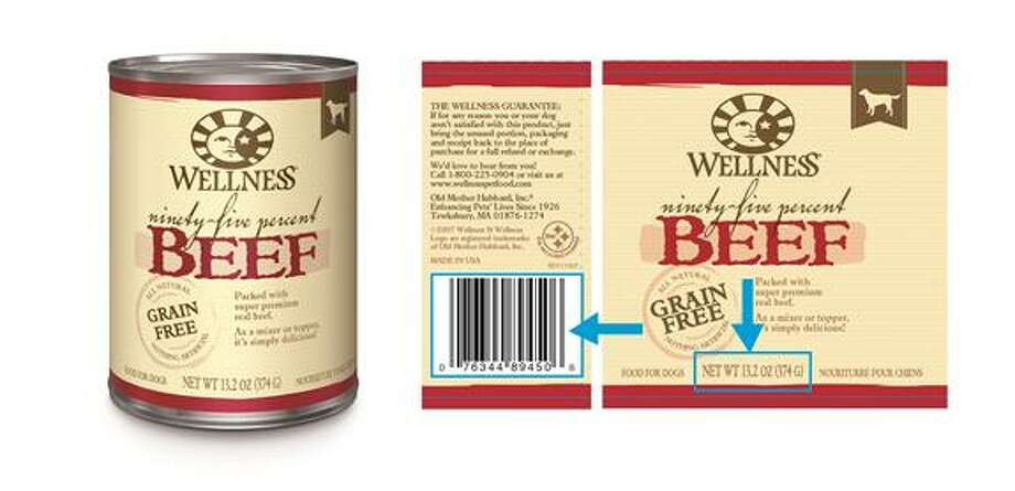 Massachusetts-based company WellPet has yanked a limited amount of Wellness 95 Percent Beef Topper for Dogs as the product has the potential to contain elevated levels of naturally-occurring beef thyroid hormones. Photo courtesy of the U.S. Food and Drug Administration. Photo: Contributed / Contributed