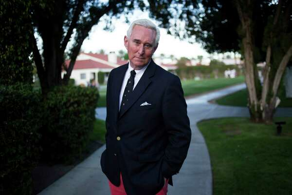 Roger Stone in La Quinta, Calif., March 3, 2017. Stone is the best known of the Trump associates under scrutiny as part of an FBI investigation into Russian interference in the 2016 election. He has denied any involvement with the Russians, but his public statements have given investigators a focal point to consider. (Jenna Schoenefeld/The New York Times)