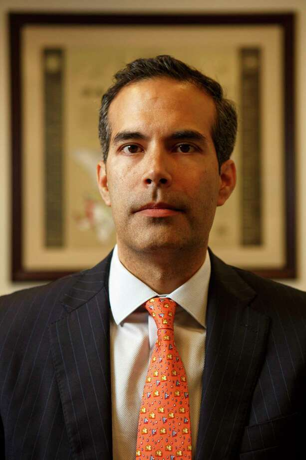 Texas Land Commisioner, George P. Bush, posing for a portrait in his office in Austin at 1700 Congress Ave. on Jan. 27, 2017. Photo: Spencer Selvidge For The San Antonio Express-News / Copyright 2017, Spencer Selvidge for the San Antonio Express-News.