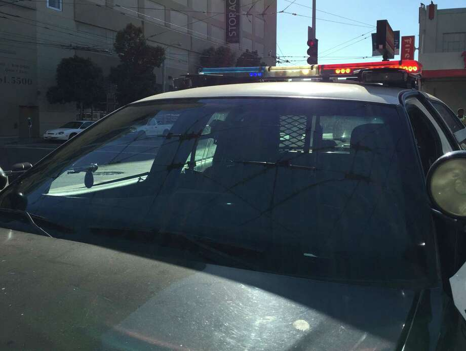 A man was shot Tuesday afternoon driving through an intersection in San Francisco's Bayview neighborhood, police said. Photo: Sarah Ravani / Sarah Ravani /