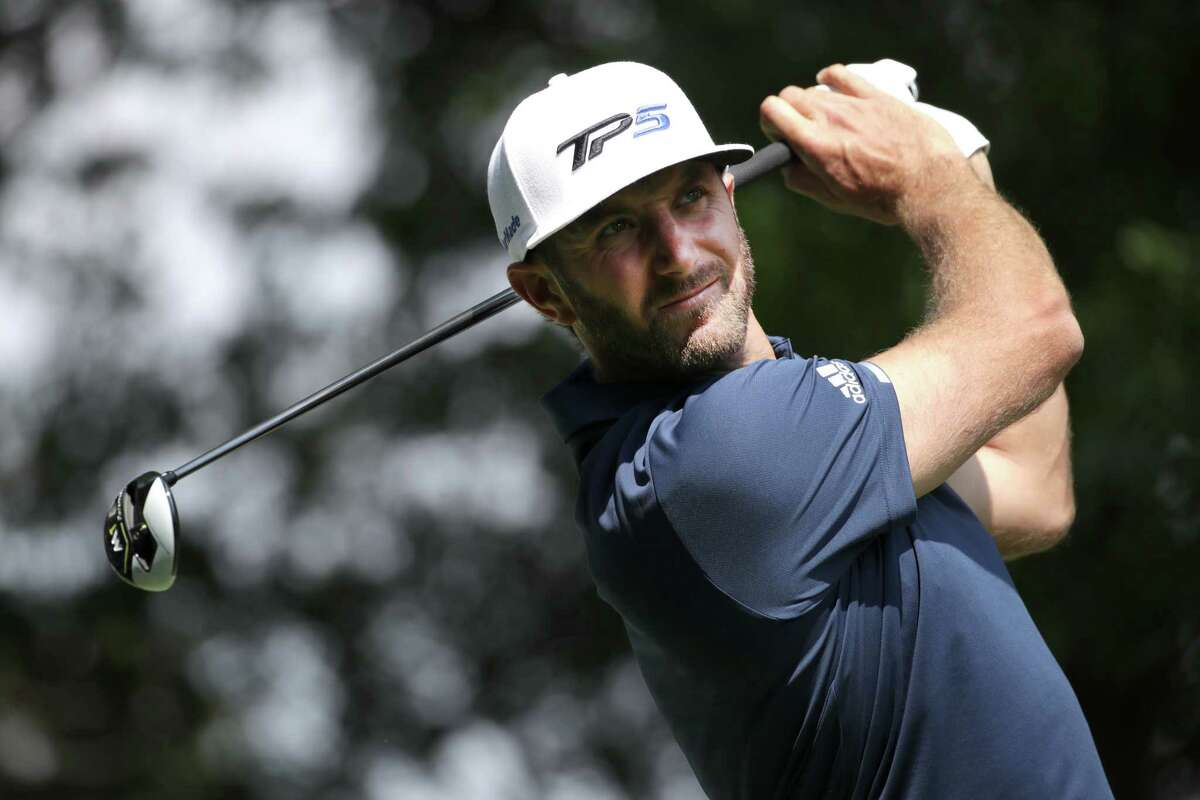 MEXICO CITY, MEXICO - MARCH 05: Dustin Johnson of the United States plays his tee shot on the eighth hole during the final round of the World Golf Championships Mexico Championship at Club De Golf Chapultepec on March 5, 2017 in Mexico City, Mexico. (Photo by Justin Heiman/Getty Images) ORG XMIT: 686969291