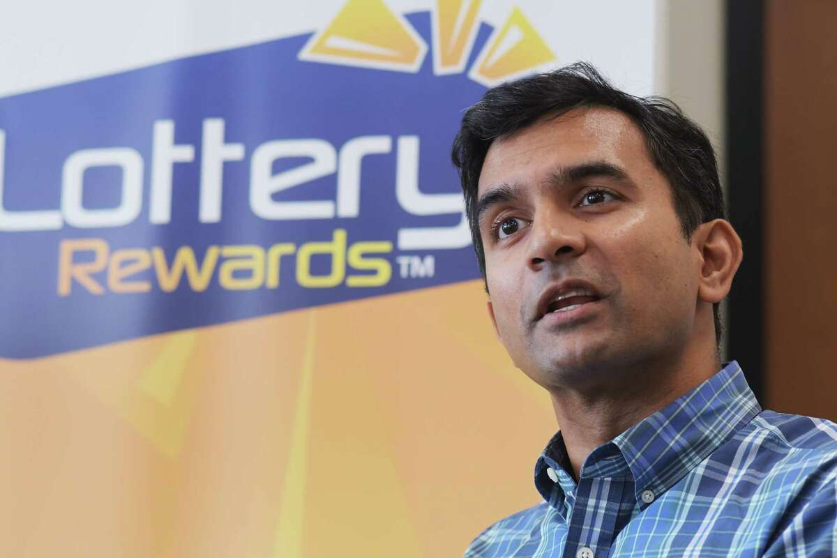 Investor Guha Bala with Velan Ventures, talks about Lottery Rewards and its business during an interview on Wednesday, Sept. 14, 2016, in Schenectady, N.Y. (Paul Buckowski / Times Union)