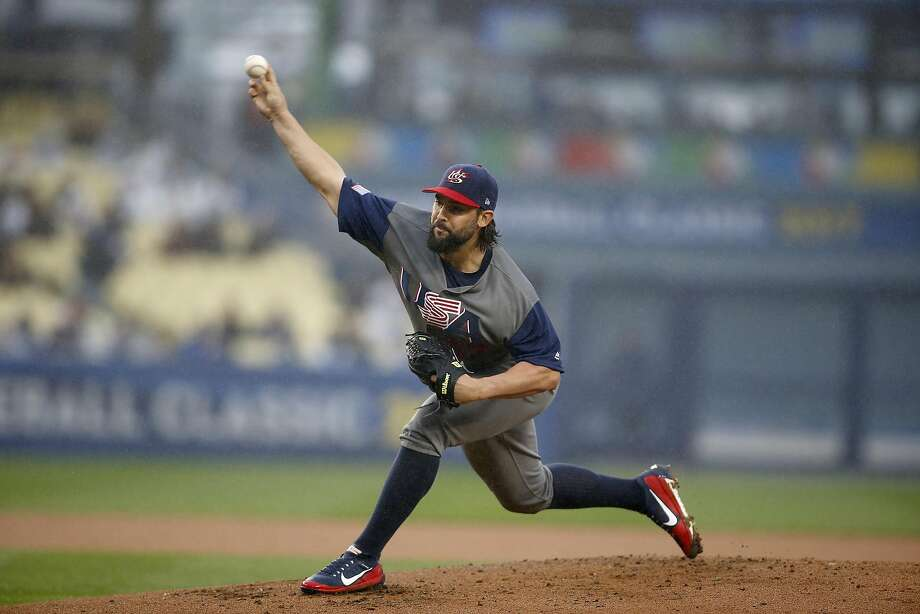 Washington's Tanner Roark started for the U.S. and went four innings, allowing no runs on two hits, a walk and a hit batter. In his only previous appearance in the tournament, he had given up three runs in 1 1/3  innings. Photo: Allen J. Schaben, TNS