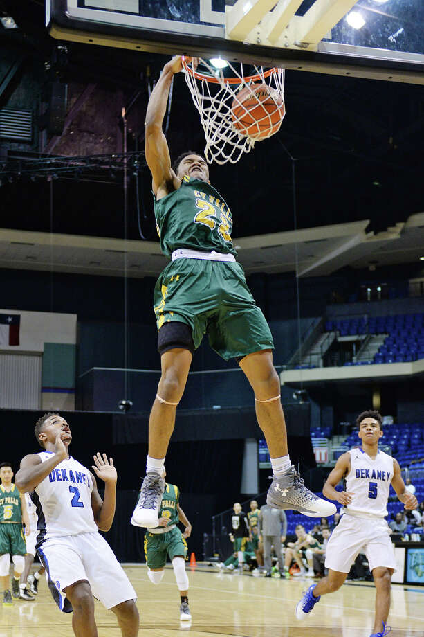 Cy Falls' junior guard Nigel Hawkins' one-handed slam against Dekaney in the Cy Hoops Invitational was one of the most memorable images from the 2017 season. Hawkins, who led 17-6A in scoring with 21.1 points per game, projected to be the MVP at virtually every point in the season, and there were no curve balls from the district's coaches. Hawkins is the Cy-Fair ISD Boys Basketball MVP. Photo: CFISD Communications