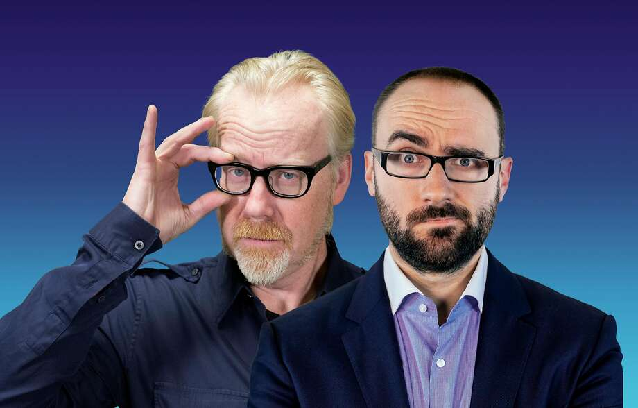 """Adam Savage, left, and Michael Stevens bring """"Brain Candy Live!"""" to The Bushnell in Hartford on Wednesday, March 8. Photo: Brain Candy Live! / Contributed Photo"""