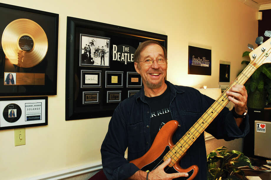 Lucky Run Studio  owner Michael Mikulka  regularly produces music for super stars at his Houston music studio. Michael has worked with the Grammy artists such as Sting, Solange Knowles and Lady Ga Ga's  musicians for the 51 Super Bowl performance. Michael Mikulka  has Knowles' gold record hanging in the front of his office. Photo: Tony Gaines, Photographer
