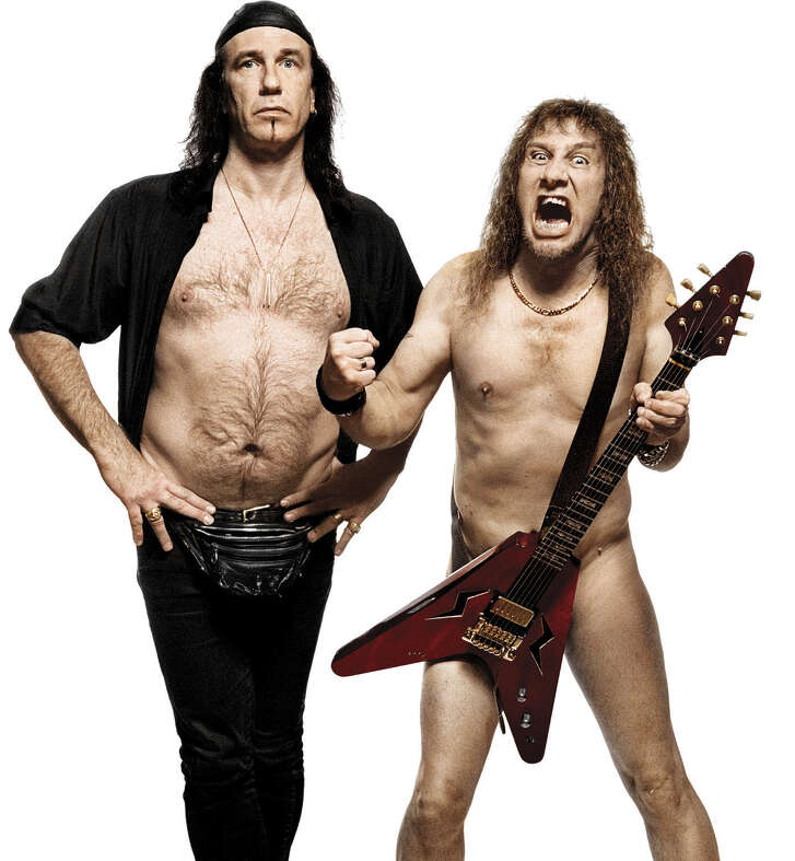 """Robb Reiner and Steve """"Lips"""" Kudlow of the rock band Anvil Credit: Ross Halfin"""