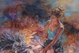 """Ken Call's """"In the Moment"""" received first prize in the Watercolor Art Society's 40th International Exhibition."""