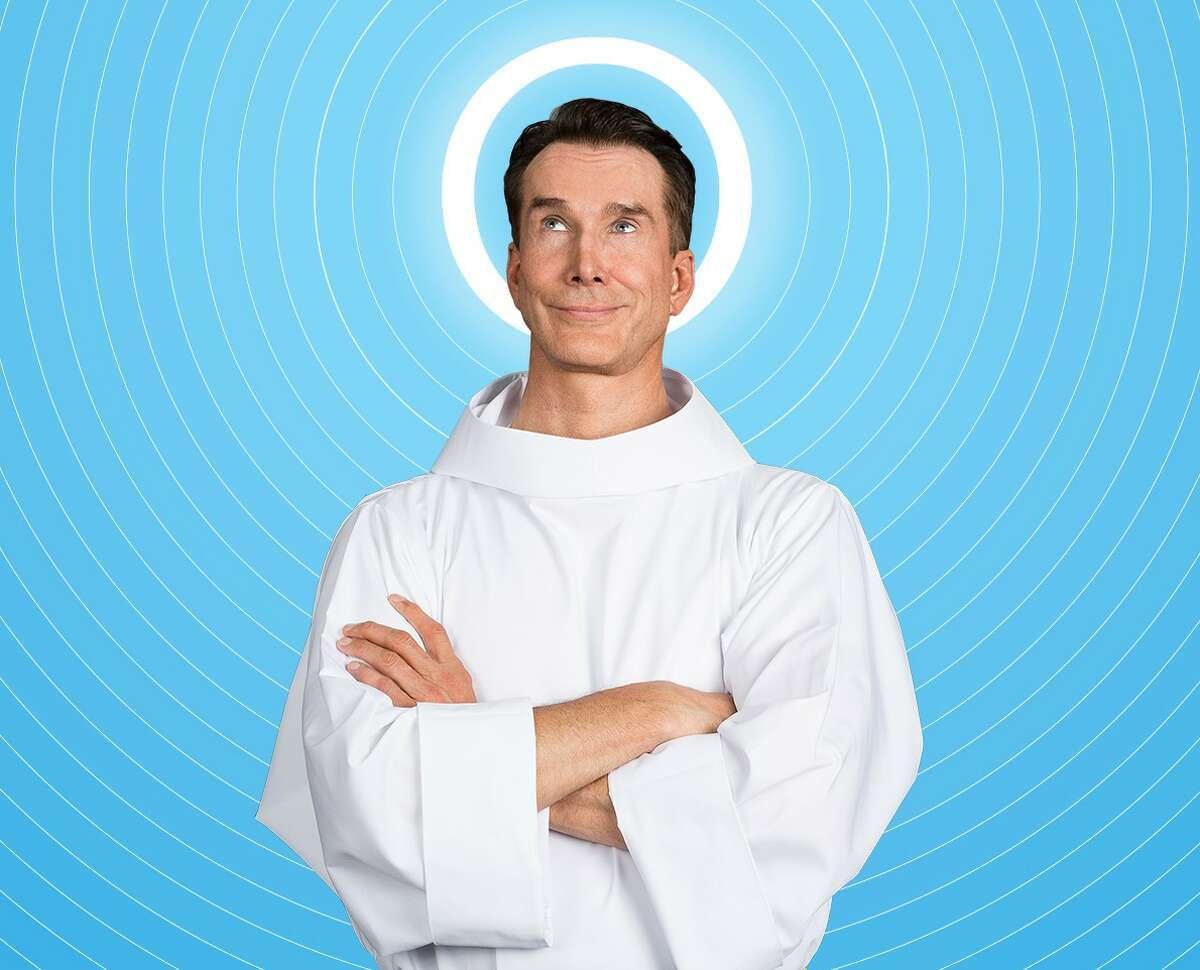"""Todd Waite plays God in the Alley Theatre's production of """"An Act of God."""""""