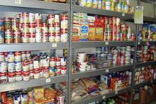 Food drives are conducted to keep the South End Community Center pantry well stocked.
