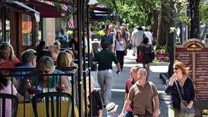 Newer cities like Austin can't match the urban splendor and history of downtown Saratoga Springs, seen here, or neighborhoods like Center Square in Albany or the Stockade in Schenectady. (John Carl D'Annibale / Times Union) ORG XMIT: MER2014061914553010