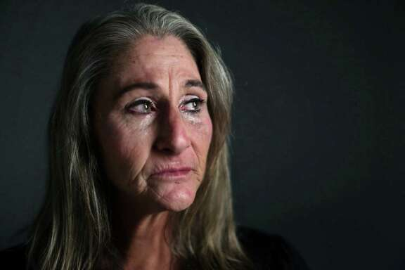 "Kristy Anderson, 53, was raped three times by Keith Hendricks. Other seven women also accused Hendricks of sexual assault. Records show that failures in the Harris County criminal justice system range from untested rape kits to failed prosecutions, to dismissals of cases, which ultimately resulted in more rape victims over the years. Anderson was 46-years-old the first time she was assaulted by Hendricks who is also known as ""Chicago Slim."" Hendricks a fractured her nose and face bones requiring surgery. Thursday, Sept. 29, 2016, in Houston."