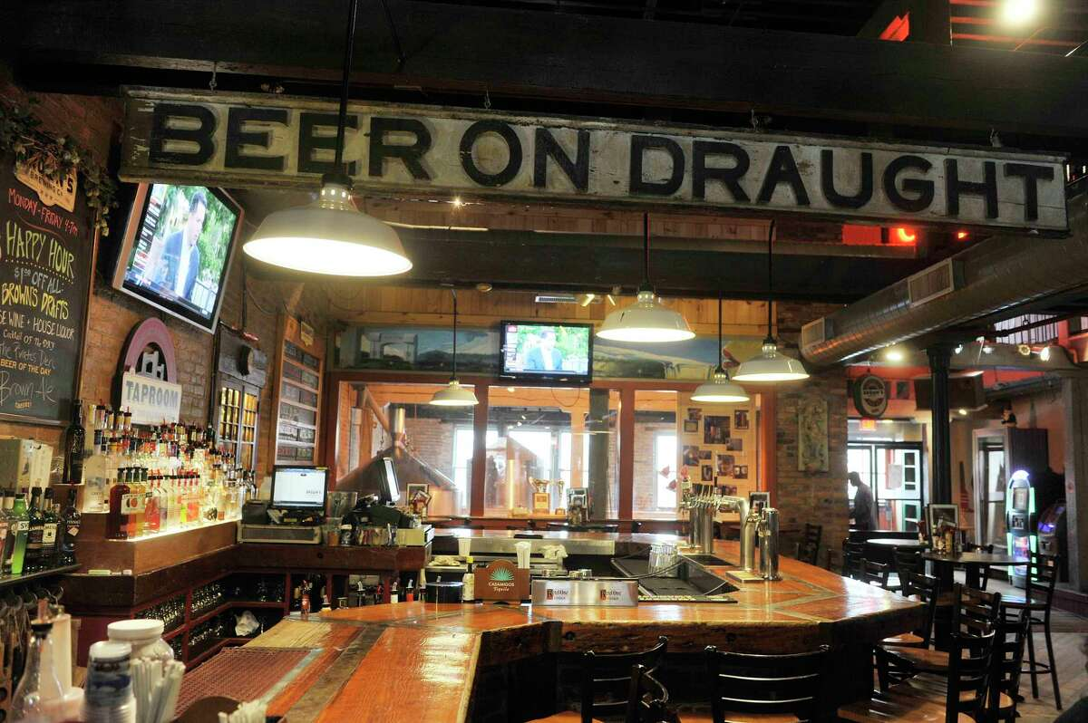 A view of the bar area at Brown's Brewing Company on Wednesday, March 23, 2016, in Troy, N.Y. (Paul Buckowski / Times Union)