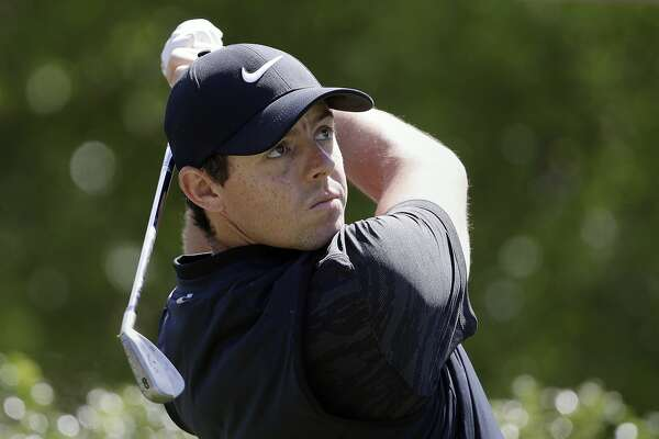 Rory McIlroy of Northern Ireland watches his tee shot on the on the 17th hole during a practice round for the Dell Match Play Championship golf tournament at Austin County Club, Tuesday, March 21, 2017, in Austin, Texas. (AP Photo/Eric Gay)