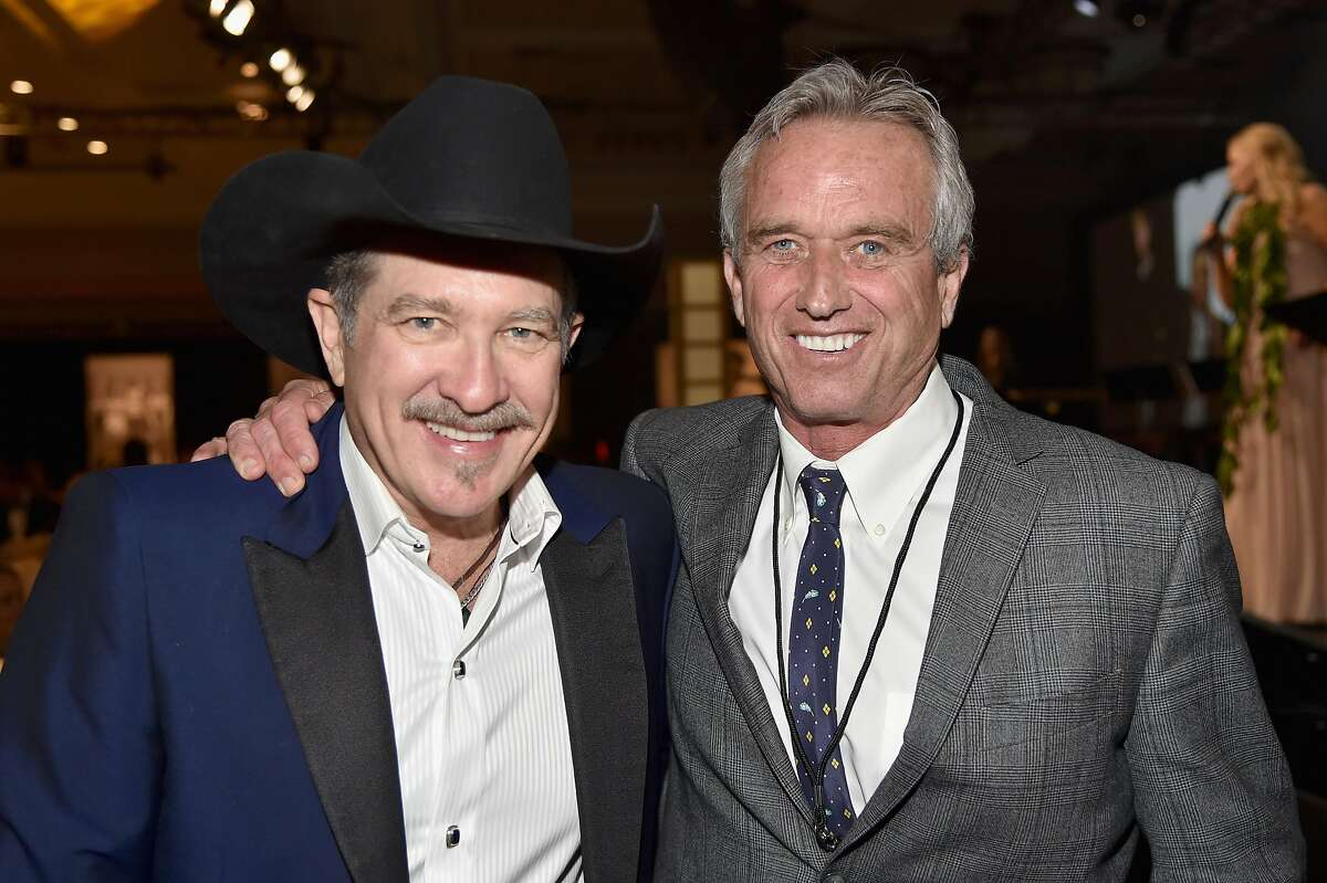 In this March 18, 2017, photo, Robert F Kennedy Jr. (right), is seen here with musician Kix Brooks at the JW Marriott Desert Ridge Resort & Spa in Phoenix.