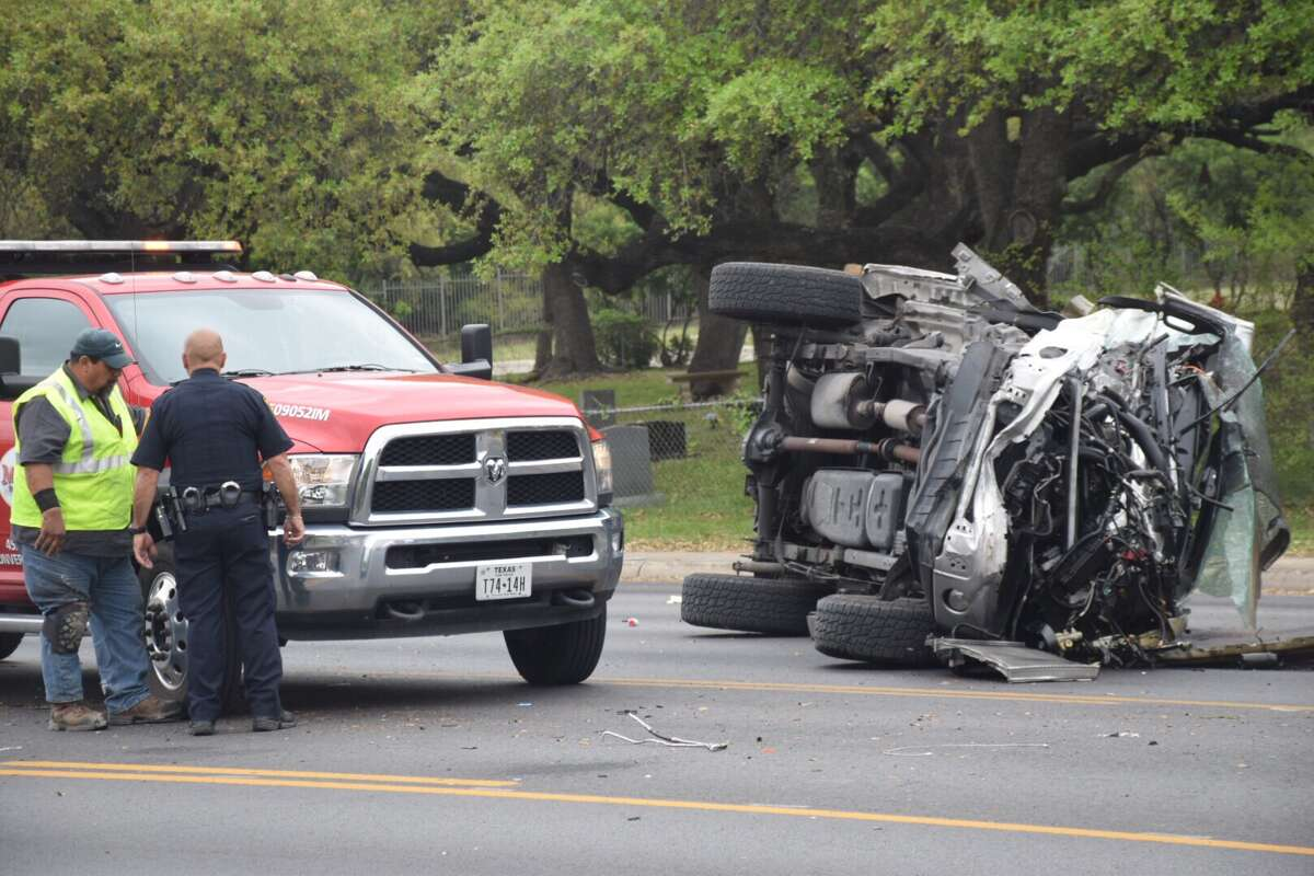 Police on Wednesday arrested a man who allegedly wrecked a stolen pickup truck after a chance encounter with the trucks owner.