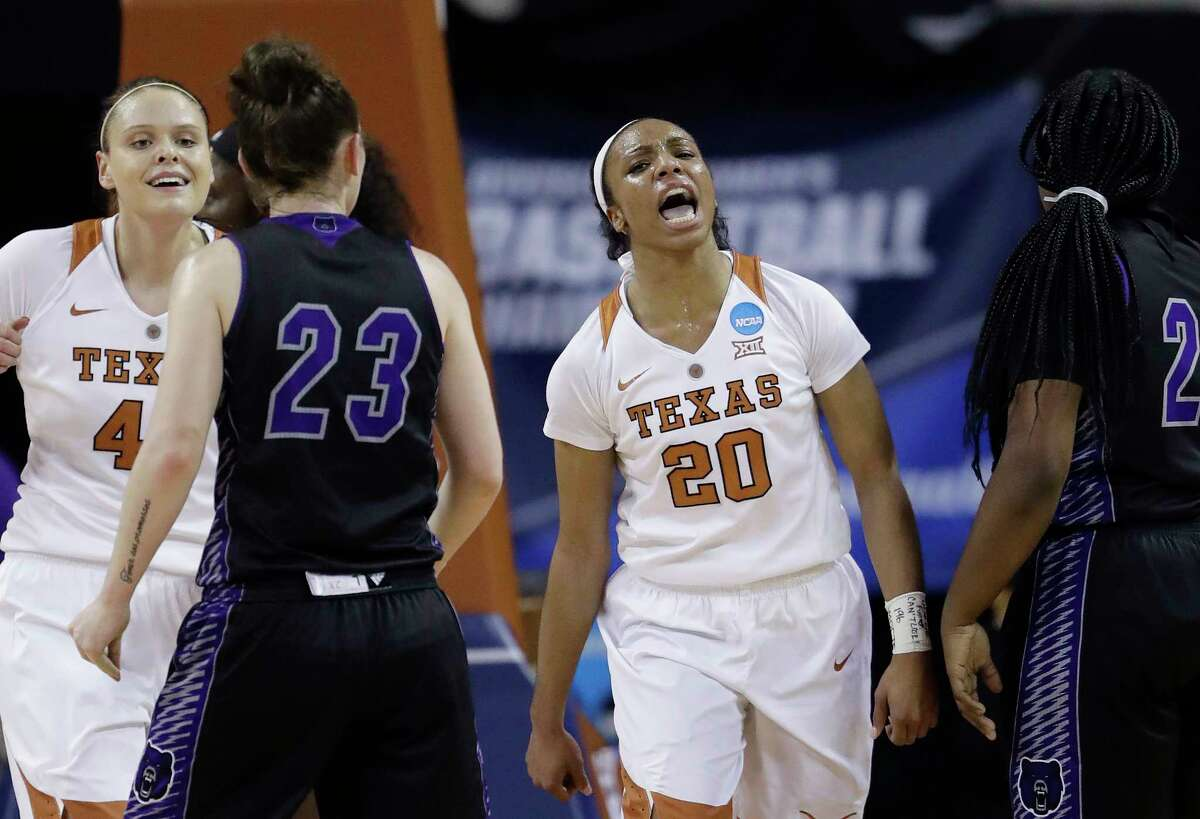 HOUSTON PLAYERS IN THE WOMEN'S SWEET 16 Briana Taylor, Texas The senior guard from Dekaney High School averages 4.9 points and 4.2 rebounds per outing for the Longhorns.