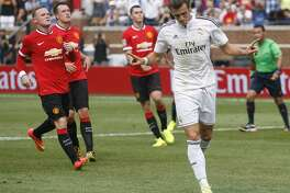 ANN ARBOR, MI - AUGUST 2: Gareth Bale #11 of Real Madrid celebrates his second half goal against Manchester United during the second half of the Guinness International Champions Cup at Michigan Stadium on August 2, 2014, in Ann Arbor, Mich (Photo by Duane Burleson/Getty Images)