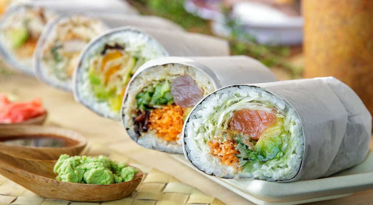 U'Maki Sushi Burrito This odd hybrid of Japanese and Tex-Mex will soon be available at the Vintage Market plaza, 10111 Louetta. An April opening has been delayed, but the restaurant's Facebook page will have updates.