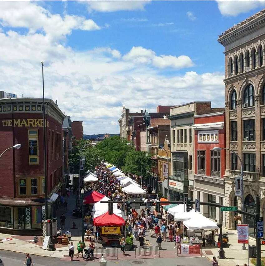 Best neighborhood to live without a car: 1. Downtown Troy.
