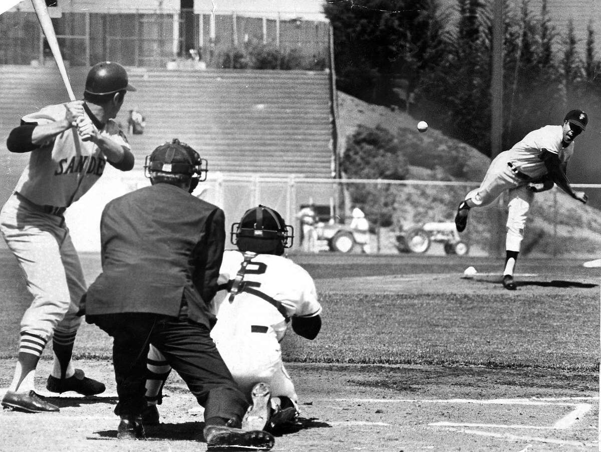 1969 San Francisco Giants opening day against the San Diego Pdres. Juan Marichal pitched 8 innings and picked up the win Photo ran 04/18/1969, P. 53