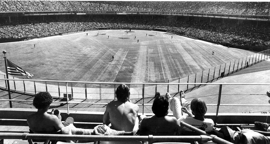 The San Francisco Giants would lose their 1978 Opening Day, but these fans in the upper deck enjoyed the sunny day, April 8, 1978. Photo: John Storey, San Francisco Chronicle