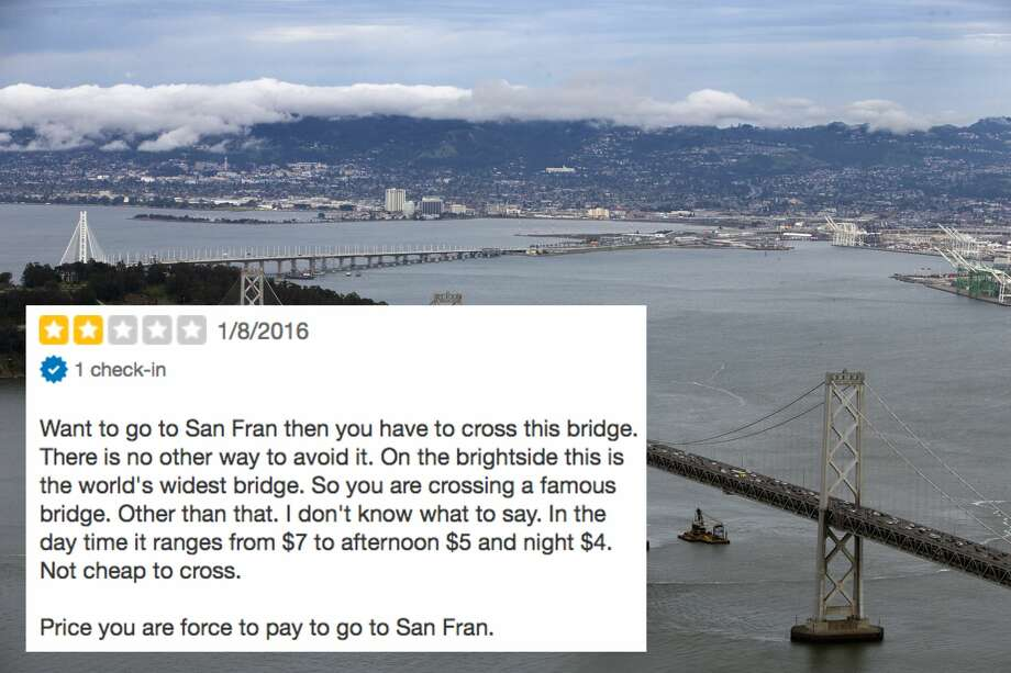 """Yes, bridges do cost money, whether or not they take you to """"San Fran."""" Photo: Carlos Avila Gonzalez/The Chronicle"""