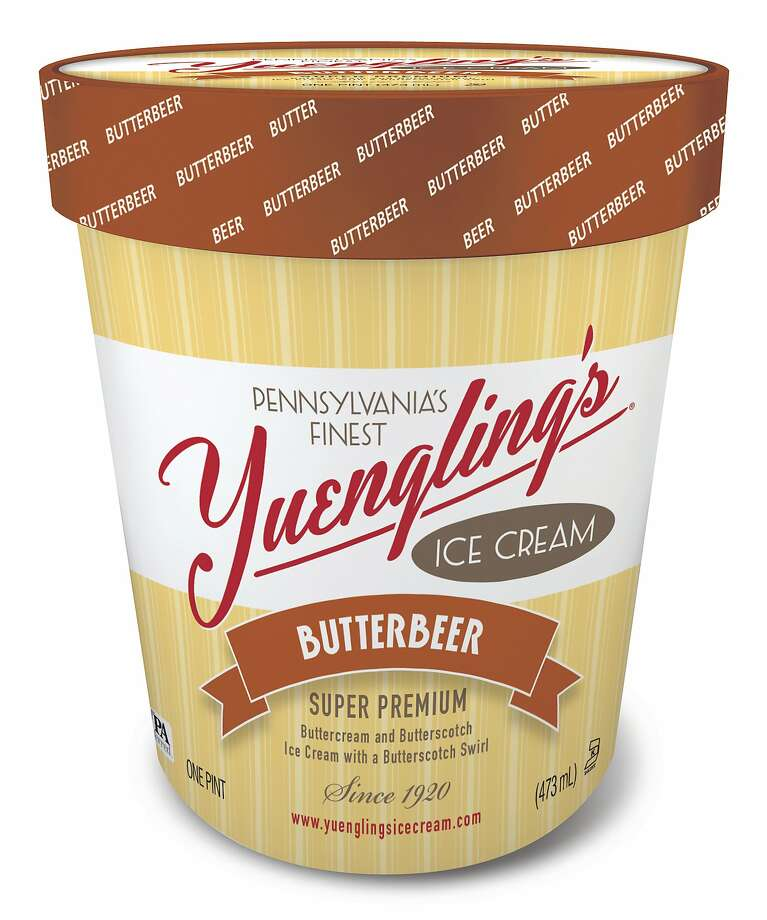 """This image provided by Yuengling's Ice Cream shows """"butterbeer"""" a Harry Potter inspired ice cream. Yuengling's said the new butterbeer variety combines buttercream and butterscotch ice cream. (Yuengling's Ice Cream via AP) Photo: Associated Press"""