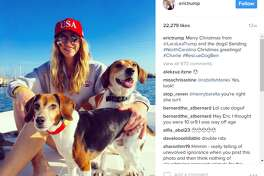 erictrump: Merry Christmas from @LaraLeaTrump and the dogs! Sending #NorthCarolina Christmas greetings! #Charlie #RescueDogBen