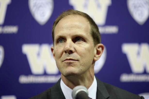New UW head men's basketball coach Mike Hopkins speaks during a press conference announcing Hopkins' new position, Wednesday, March 22, 2017.