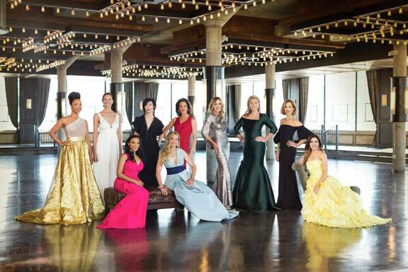 The 2017 Houston Chronicle Best Dressed honorees, from left: Gina Gaston Elie, Lisa Holthouse, Clarenda McGrady, Carrie Brandsberg-Dahl, Mary D'Andrea, Jessica Rossman, Jana Arnoldy, Carol Linn, Carolyn Dorros and Sneha Merchant. Shot on location at The Astorian. Hair and makeup by Ceron Salon.