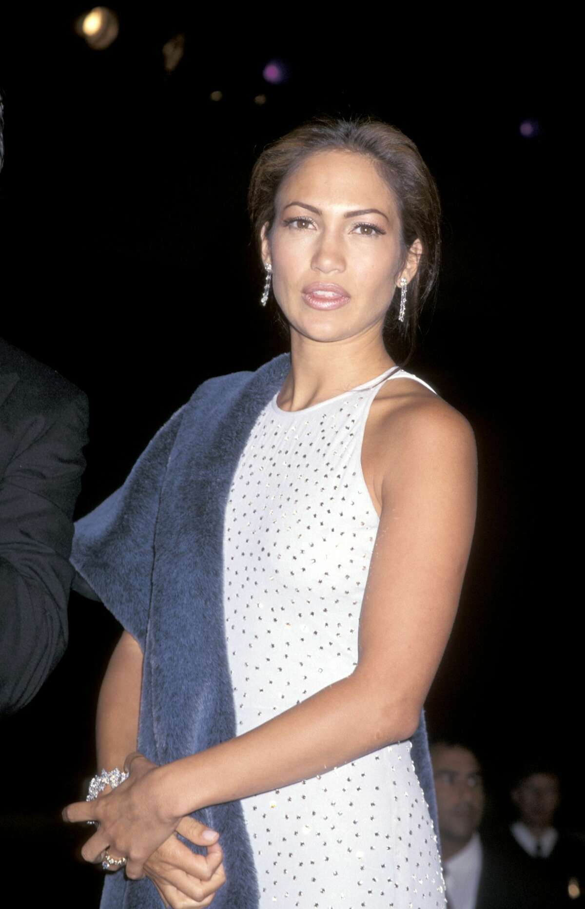 Jennifer Lopez attends the 1997 premiere of Selena.