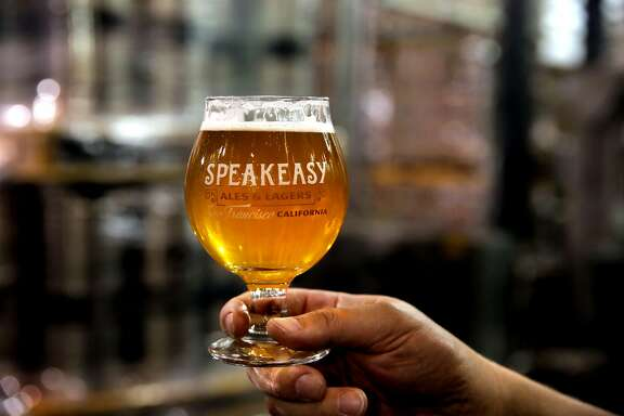 A glass of Baby Daddy IPA  at the Speakeasy Ales & Lagers Brewery in San Francisco , Ca. as seen on Wed. March 22, 2017. The brewery announced it was closing two weeks ago, then started brewing again at full speed as it looks for a buyer.