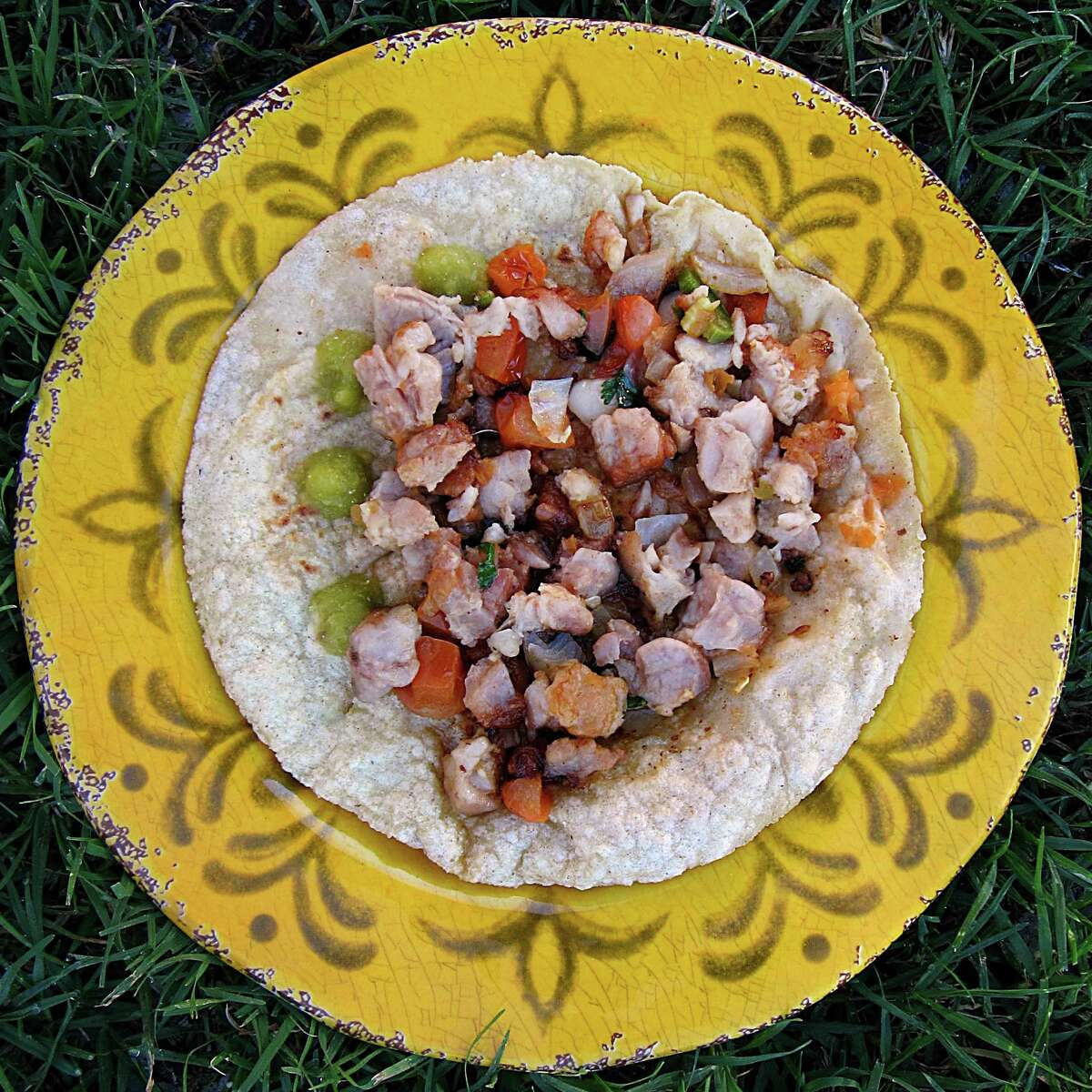 Taco of the Week: Mollejas (sweetbreads) taco on a handmade corn tortilla from Mittman Fine Foods.
