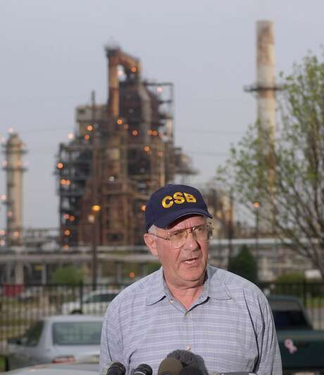 Former CSB board member John Bresland discusses the 2005 explosion and fire at BP Texas City. The investigation resulted in new safety standards.  Photo: Steve Campbell, Staff / Houston Chronicle