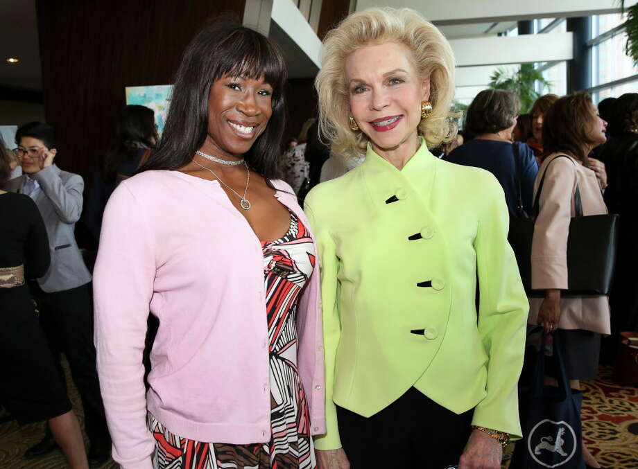 Lauren Anderson, left, and Lynn Wyatt pose for a photo at the 20th Annual Table Talk luncheon at Hilton Americas Houston Wednesday, March 22, 2017, in Houston. The luncheon benefits the University of Houston Women's Studies Department. Photo: Yi-Chin Lee, Houston Chronicle / © 2017  Houston Chronicle