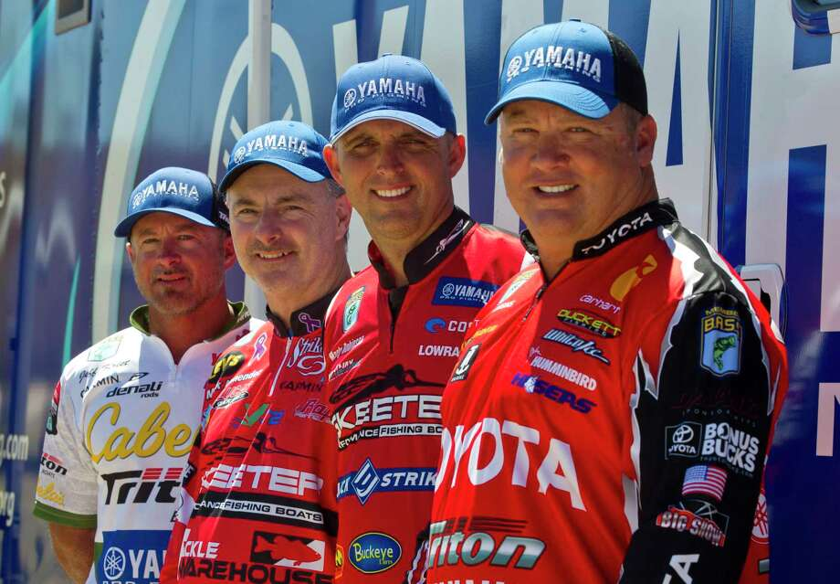 Anglers Jeff Kriet, Mark Menendez, Marty Robinson and Terry Schroggins will compete along with 48 professional bass fishers on Lake Conroe in the Geico Bassmaster Classic this Friday through Sunday. Photo: Jason Fochtman, Staff Photographer / © 2017 Houston Chronicle