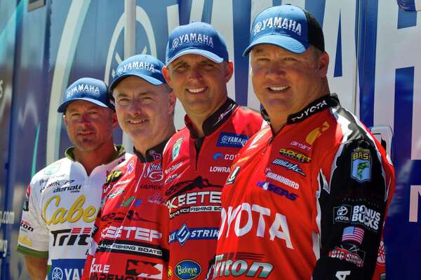 Anglers Jeff Kriet, Mark Menendez, Marty Robinson and Terry Schroggins will compete along with 48 professional bass fishers on Lake Conroe in the Geico Bassmaster Classic this Friday through Sunday.