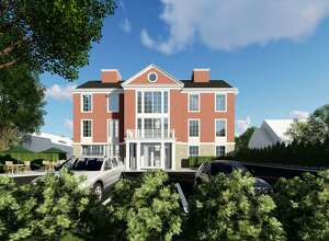 THE NEW LOOK: The current design of the proposed apartment building at 143 Sound Beach Avenue.
