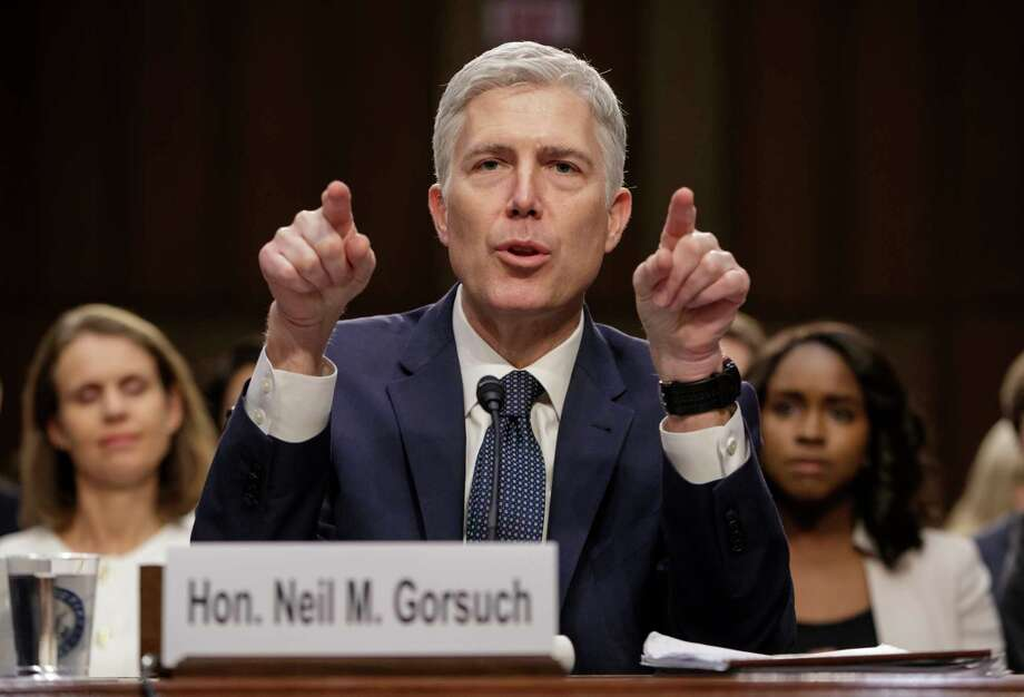 Democrats said Supreme Court Justice nominee Neil Gorsuch was the most reticent of the past two Republican appointees, Chief Justice John Roberts and Justice Samuel Alito. Photo: J. Scott Applewhite, STF / AP