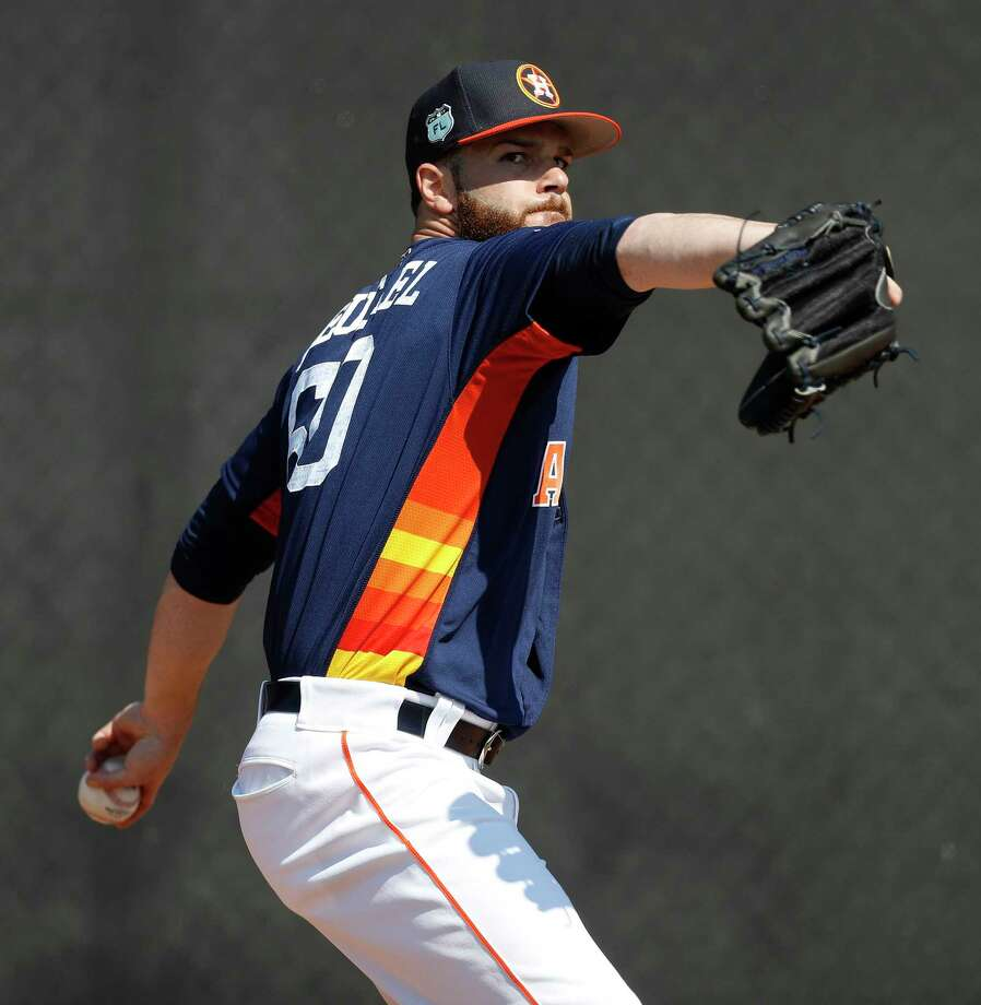 PHOTOS: Astros starting pitchers on Opening DayAstros ace Dallas Keuchel has allowed two earned runs and nine hits in 12 innings this spring.Browse through the photos for a look at Astros' starting pitchers on opening day. Photo: Karen Warren, Staff Photographer / 2017 Houston Chronicle