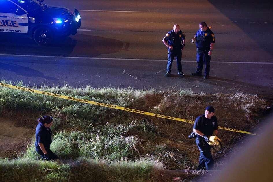 A gunman opened fire during a memorial for a man who was killed in an accident at U.S. Highway 281 North near the Hildebrand exit.