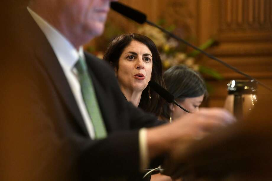 San Francisco Supervisor Hillary Ronen speaks during a hearing on March 22, 2017, in San Francisco. Photo: Noah Berger, Special To The Chronicle