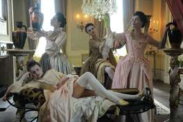 """""""Harlots,"""" an eight-part Hulu original, is visually pleasing, but presents a portrait of prostitution in 18th century London that can be as cruel as it is colorful."""